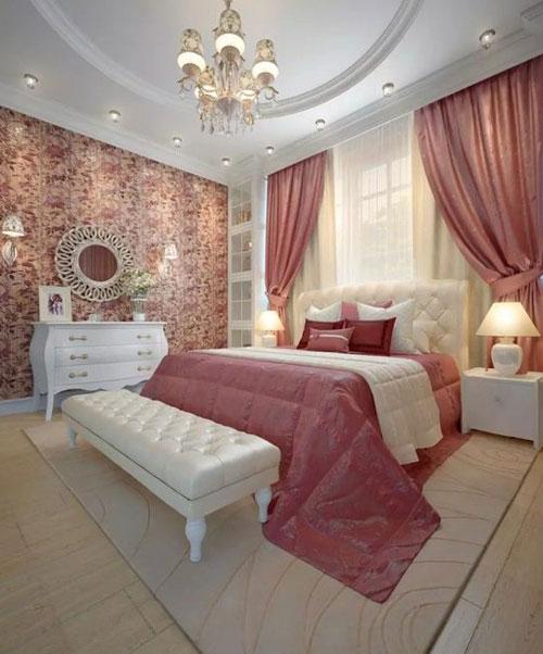 phòng ngủ sang trọng màu hồng 4