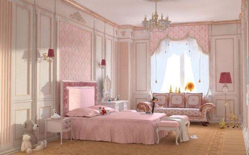 phòng ngủ sang trọng màu hồng 5