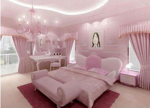 phòng ngủ sang trọng màu hồng 6