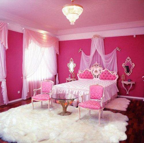 phòng ngủ sang trọng màu hồng 7