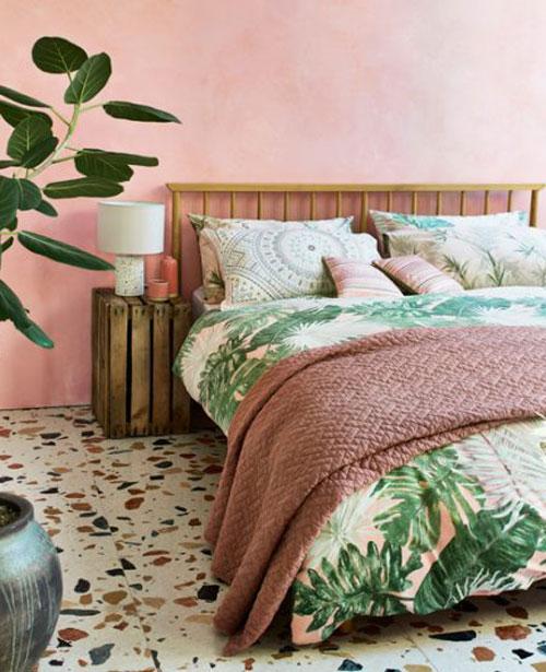 thiết kế phòng ngủ màu hồng xu hướng 2