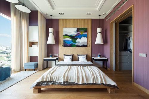 mẫu phòng ngủ màu tím 6