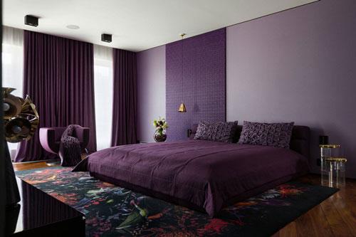 mẫu phòng ngủ màu tím 7