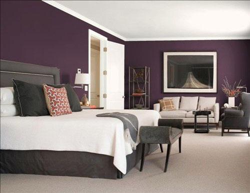 mẫu phòng ngủ màu tím 11