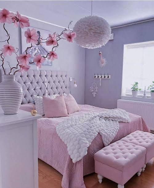 mẫu phòng ngủ màu tím 12