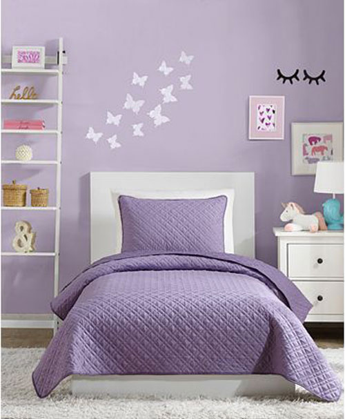 mẫu phòng ngủ màu tím 13