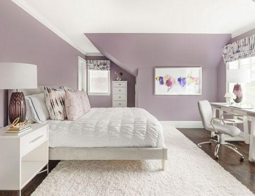 mẫu phòng ngủ màu tím 14