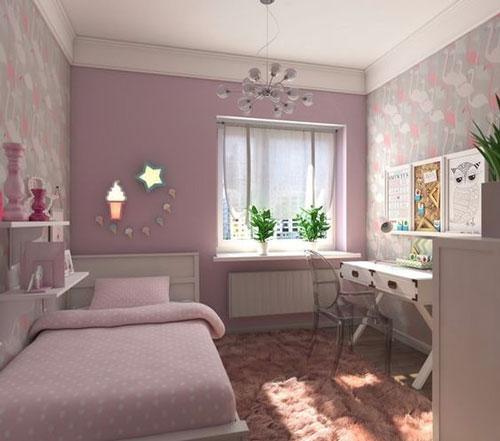 mẫu phòng ngủ màu tím 15