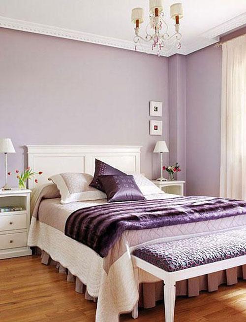 mẫu phòng ngủ màu tím 16