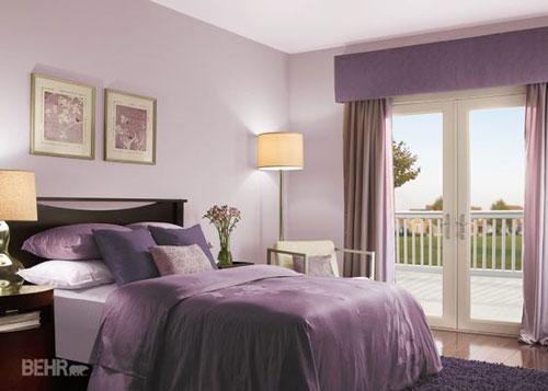 mẫu phòng ngủ màu tím 17