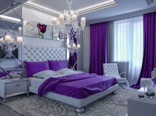 mẫu phòng ngủ màu tím 18