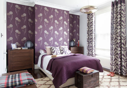 mẫu phòng ngủ màu tím 19