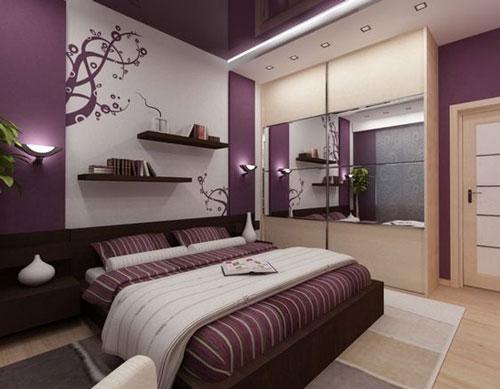 mẫu phòng ngủ màu tím 20