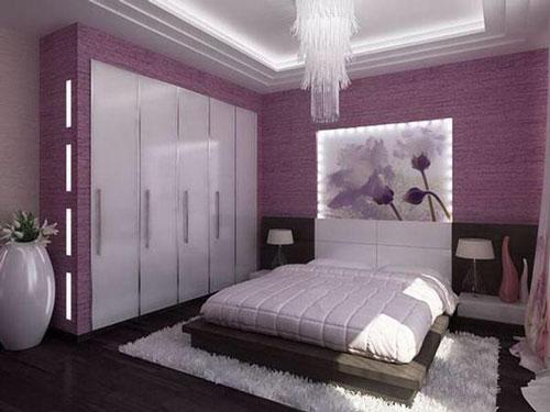 mẫu phòng ngủ màu tím 21