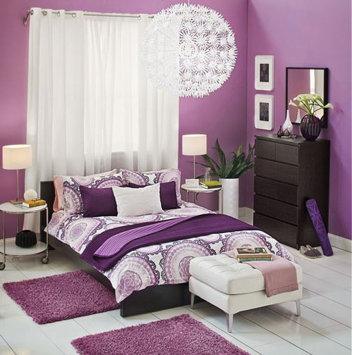 mẫu phòng ngủ màu tím 22