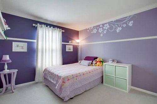 mẫu phòng ngủ màu tím 23