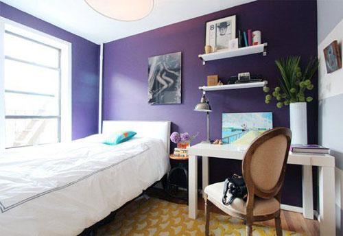 mẫu phòng ngủ màu tím 24