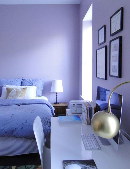 mẫu phòng ngủ màu tím 25