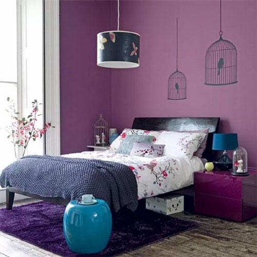 mẫu phòng ngủ màu tím 26