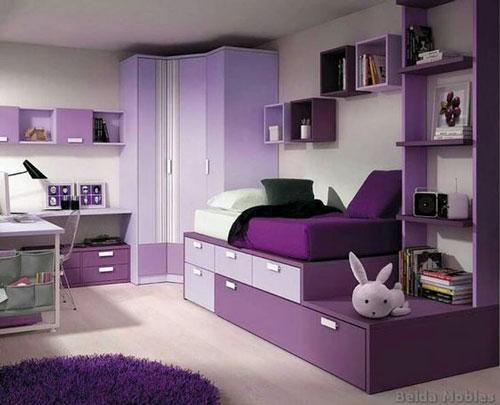mẫu phòng ngủ màu tím 27