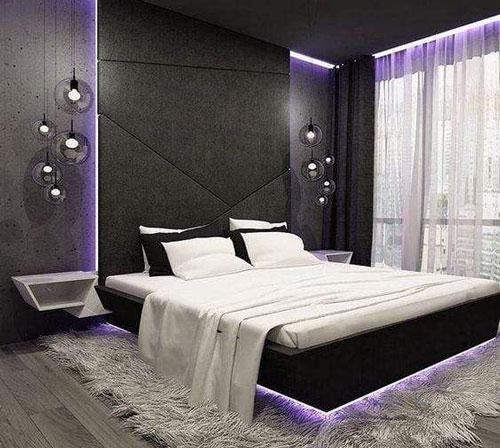 mẫu phòng ngủ màu tím 28