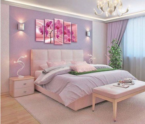 mẫu phòng ngủ màu tím 29