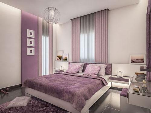 mẫu phòng ngủ màu tím 30