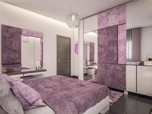 mẫu phòng ngủ màu tím 31
