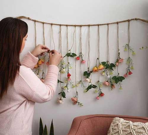 Hoa khô món đồ trang trí tự nhiên cho phòng ngủ