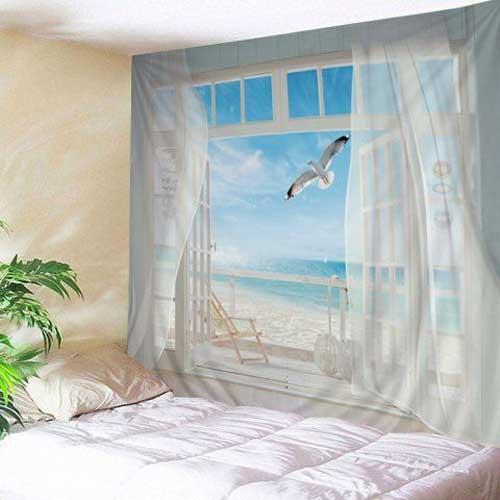 Làm cửa sổ giả cho phòng ngủ phù hợp với các căn phòng thiếu ánh sáng