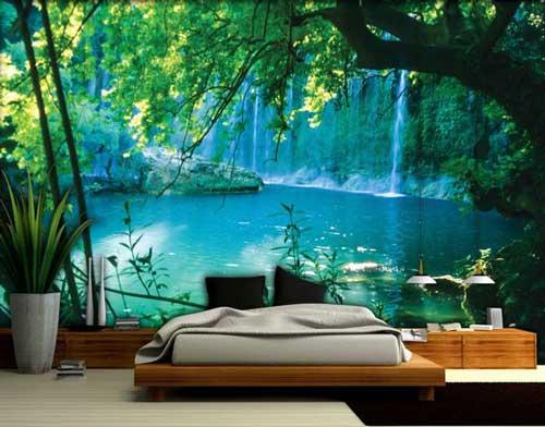 hay bên hồ nước trong xanh tran hòa với thiên nhiên