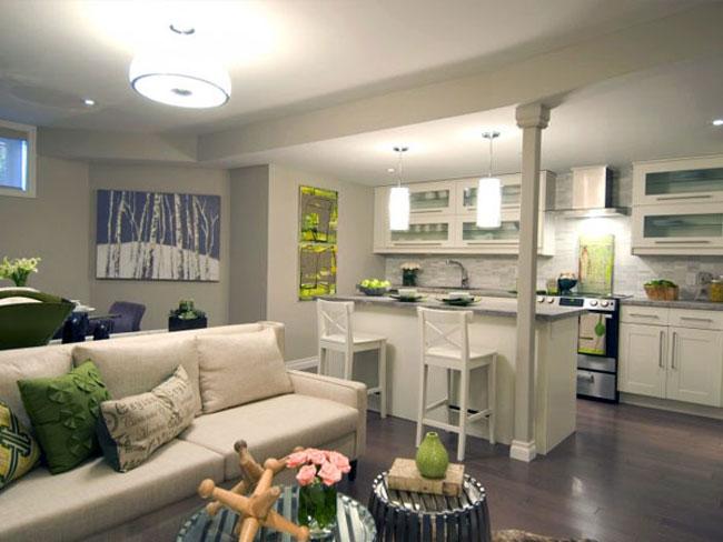 thiết kế nội thất phòng khách liền phòng ăn 13