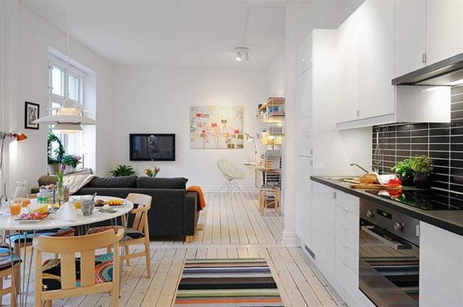 thiết kế nội thất phòng khách liền phòng ăn 17