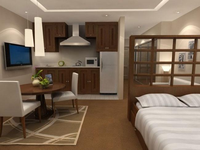 thiết kế nội thất phòng khách liền phòng ăn 2
