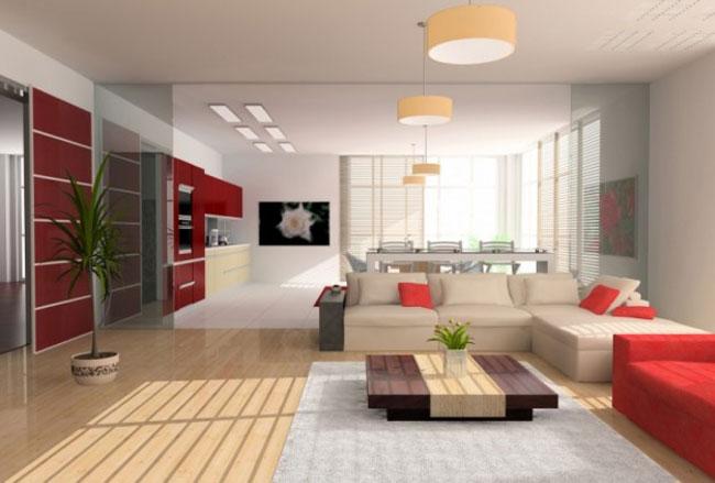 thiết kế nội thất phòng khách liền phòng ăn 5
