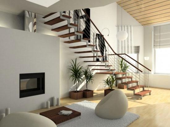 cầu thang phòng khách đẹp 14