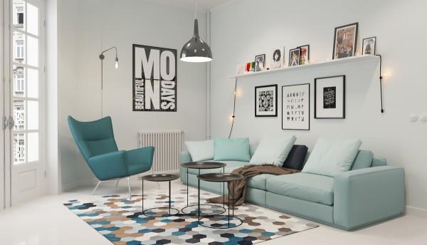50 mẫu phòng khách Scandinavian