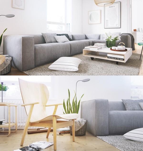 mẫu phòng khách scandinavian 14