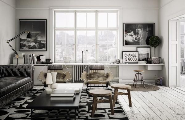 mẫu phòng khách scandinavian 15