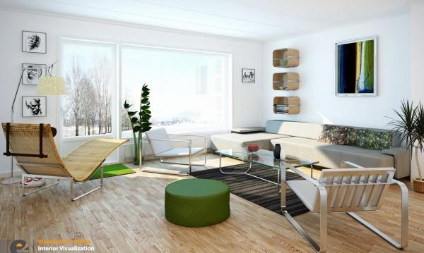 mẫu phòng khách scandinavian 16