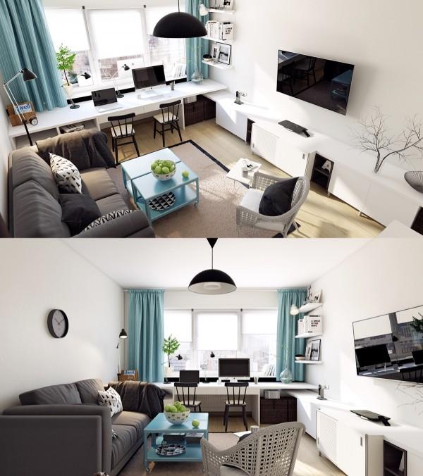 mẫu phòng khách scandinavian 18