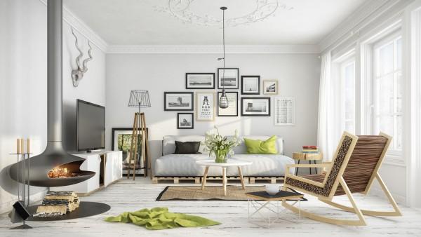 mẫu phòng khách scandinavian 2