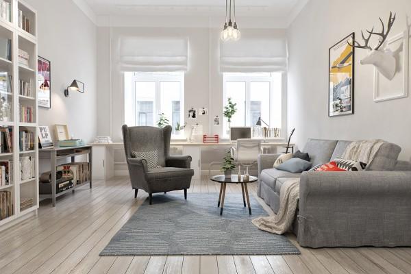 mẫu phòng khách scandinavian 25