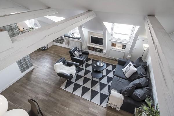 mẫu phòng khách scandinavian 36