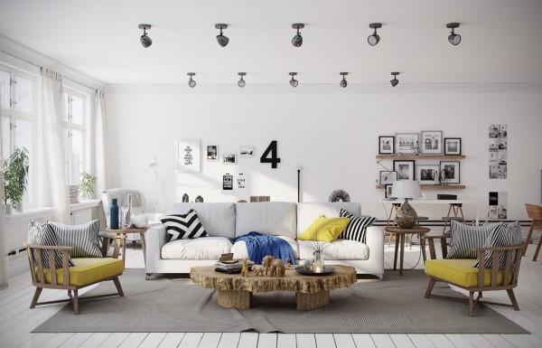 mẫu phòng khách scandinavian 4