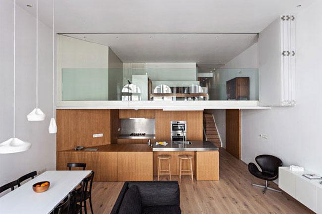 thiết kế phòng khách có gác lửng 15