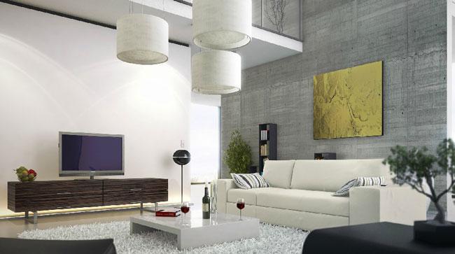 thiết kế phòng khách có gác lửng 4