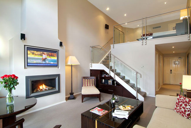 thiết kế phòng khách có gác lửng 7