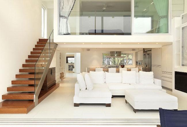 thiết kế phòng khách có gác lửng 8