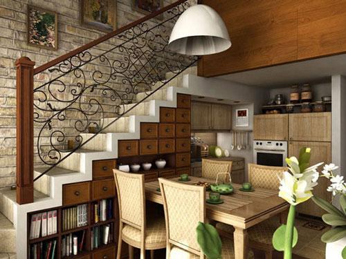 thiết kế gầm cầu thang đẹp 3